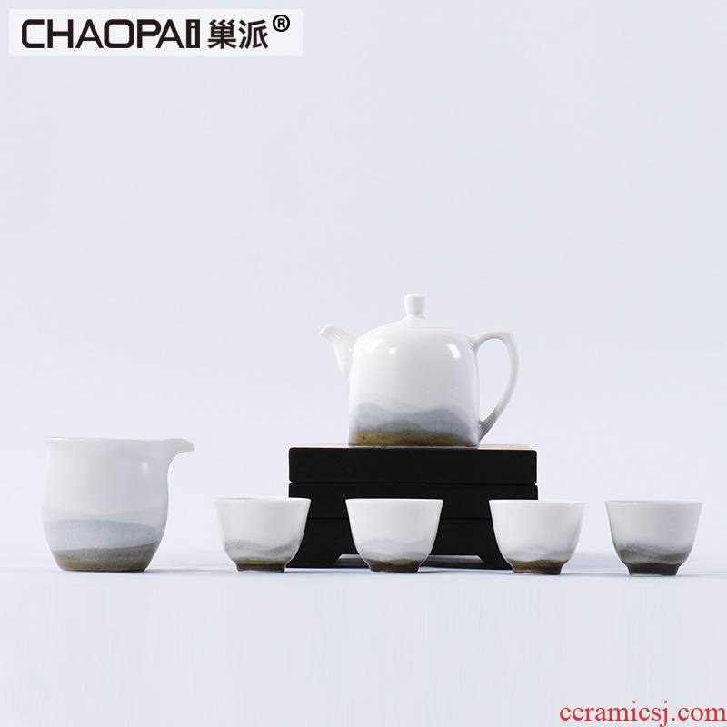 Chinese pottery and porcelain kung fu tea kettle furnishing articles club teahouse tea tea table Japanese tea tea taking decoration