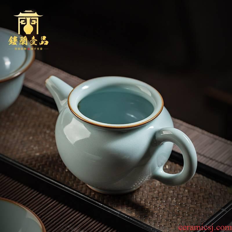 Jingdezhen all checking ceramic fair copy your up slicing YunXiu pot of kung fu tea set your porcelain teapot single pot