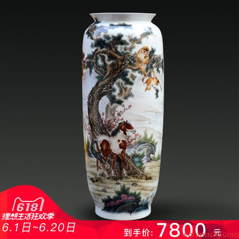 Jingdezhen ceramic Yu Zhao rev all hand - made enamel vase seal hou immediately modern home furnishing articles creative arts and crafts