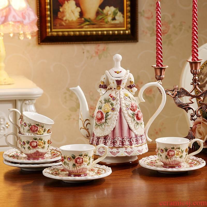 European rural ceramic coffee tea set English afternoon tea tea tea cups of coffee cup set the teapot