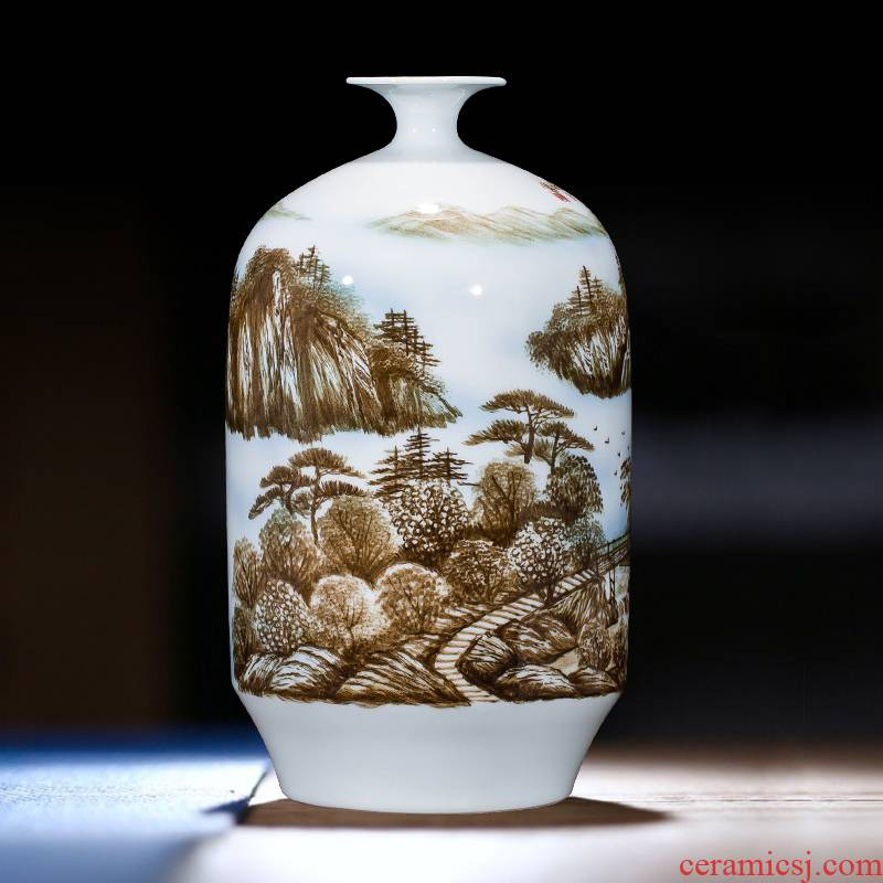 Jingdezhen ceramics hand - made vases, flower arrangement wine porch home decoration sitting room TV ark, furnishing articles