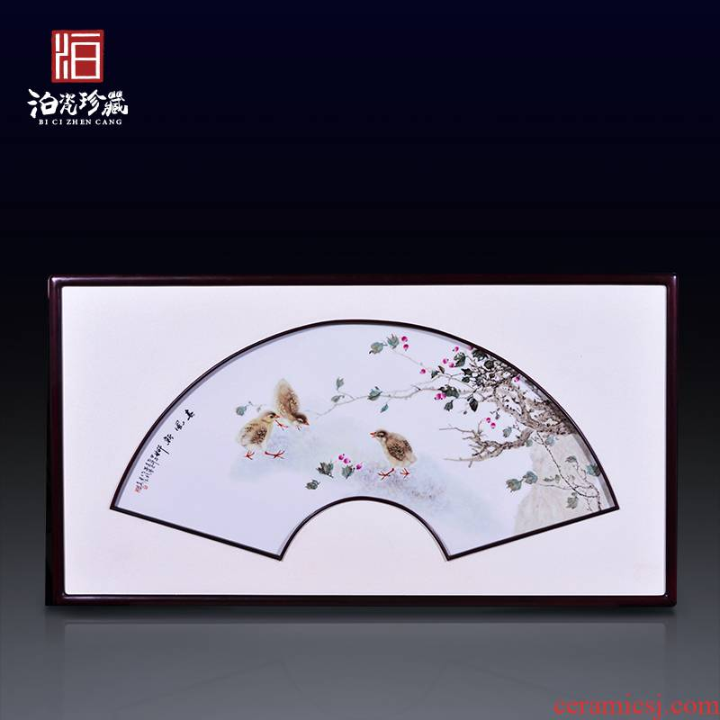Jingdezhen ceramics hand - made spring new porch porcelain plate painting the living room decorations hanging painter in furnishing articles