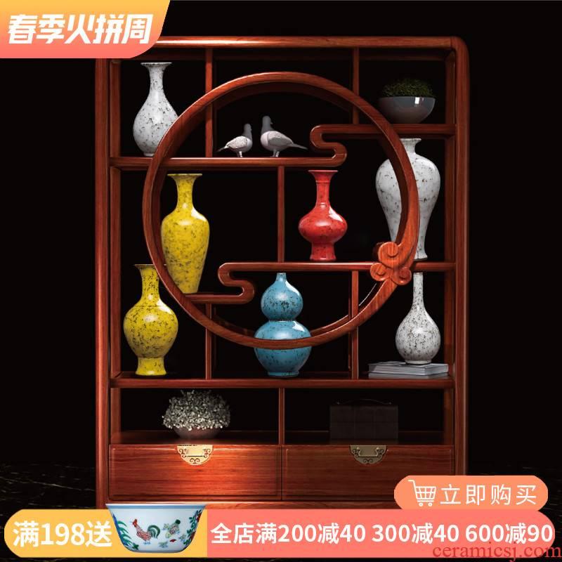 Jingdezhen ceramic vase furnishing articles sitting room variable RuJin glaze antique porcelain, Chinese ancient frame decoration decoration
