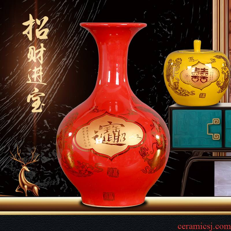Jingdezhen porcelain treasures fill the home furnishing articles sitting room decoration stores Chinese mesa floret bottle bottle office desktop