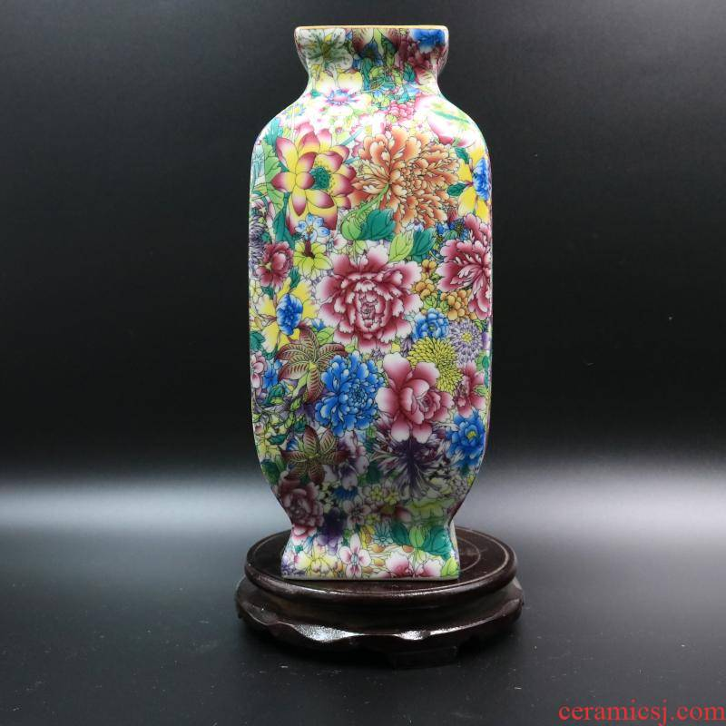 Archaize of jingdezhen porcelain flowers, the qing qianlong com.lowagie.text.paragraph four bottles of antique home decoration antique antique old goods furnishing articles