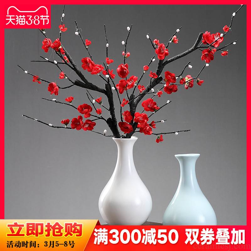 The New Chinese zen ceramic vase home sitting room TV ark, name plum dry flower, flower decoration to the hotel club furnishing articles