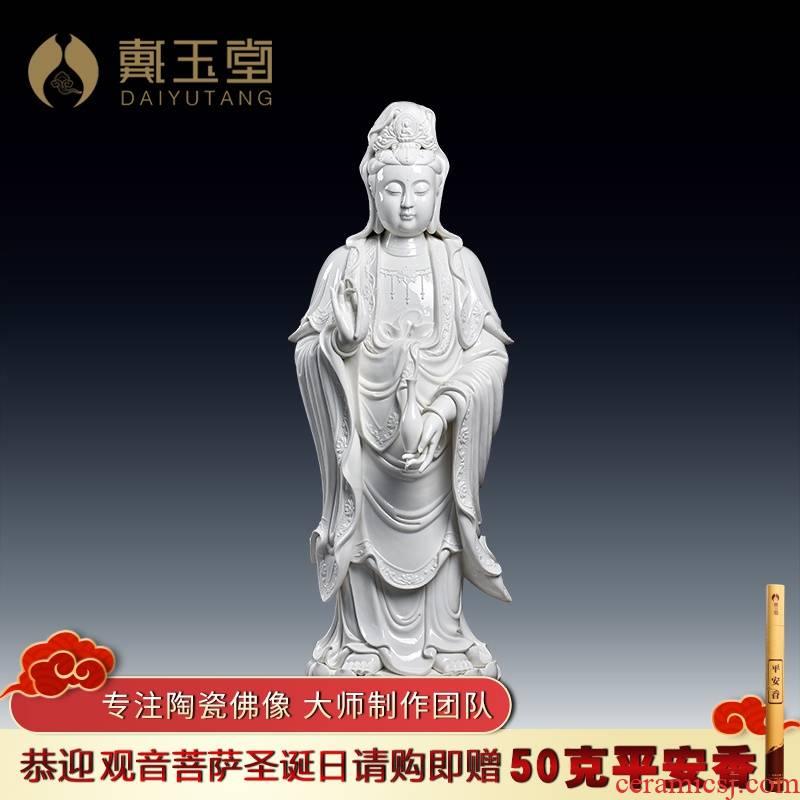 Yutang dai large ceramic Buddha handicraft avalokitesvara/108 cm Gao Lilian guanyin D12-33
