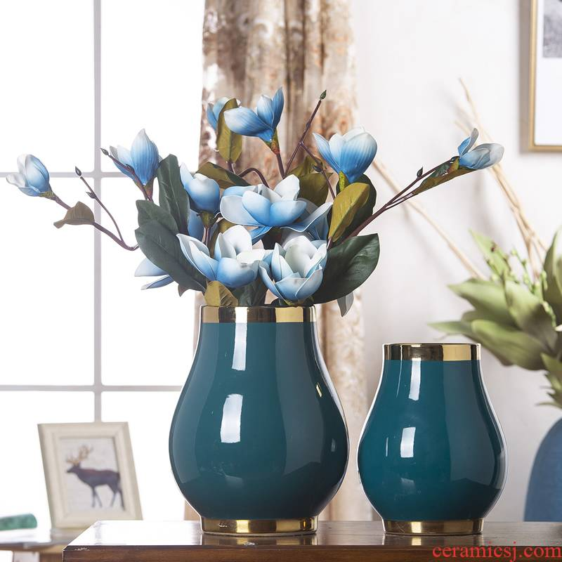 Jingdezhen ceramic wide expressions using up phnom penh vase Nordic light flower arrangement sitting room key-2 luxury decoration, household soft adornment flowers flowers