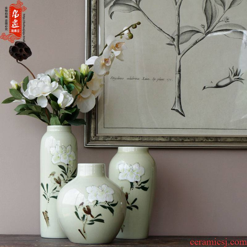 Pure and fresh and ceramic flower hand - made flower implement flower flower flower implement small cut flower implement jingdezhen ceramic furnishing articles