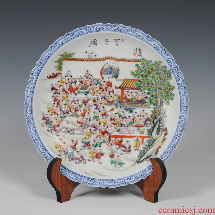 Jingdezhen famous masterpieces ceramic hand - made pastel the ancient philosophers picture porcelain antique porcelain send leadership furnishing articles in the living room