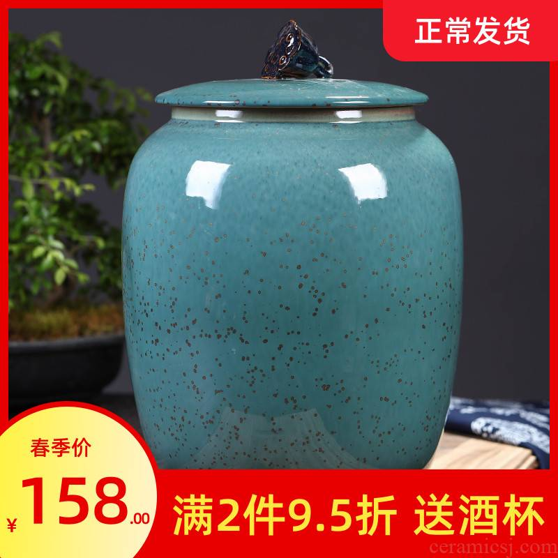 Jingdezhen ceramic tea pot large household seal pot of tea cake tea POTS detong pu - erh tea and tea urn storage