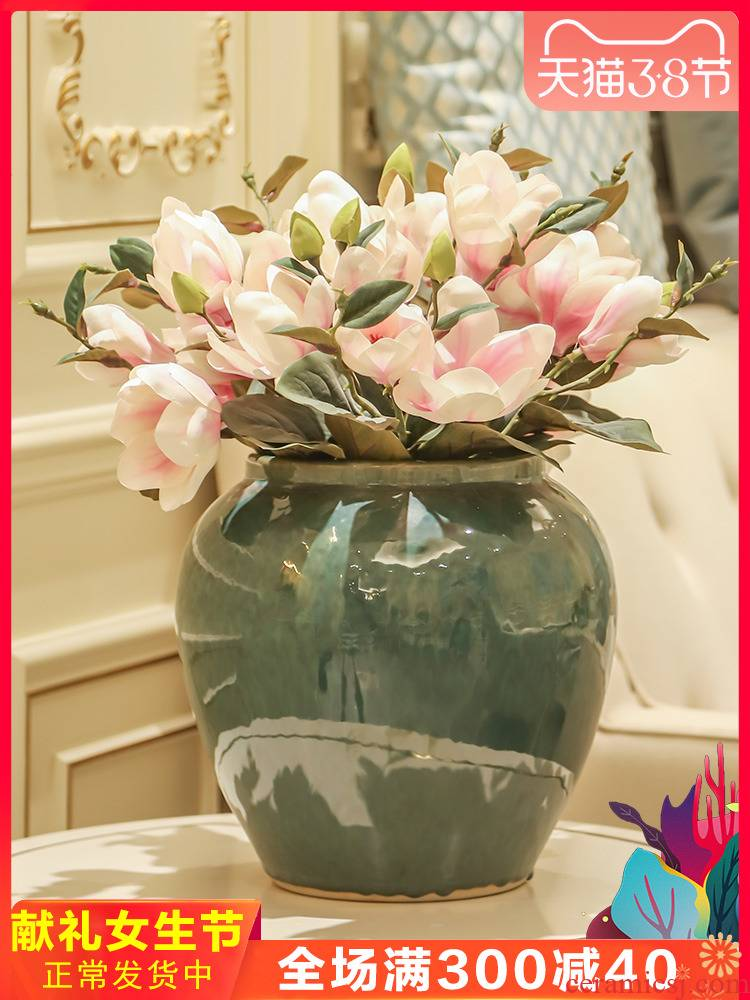 Jingdezhen new Chinese style manual variable table flower arranging home decoration ceramic vases, the sitting room porch decoration parts