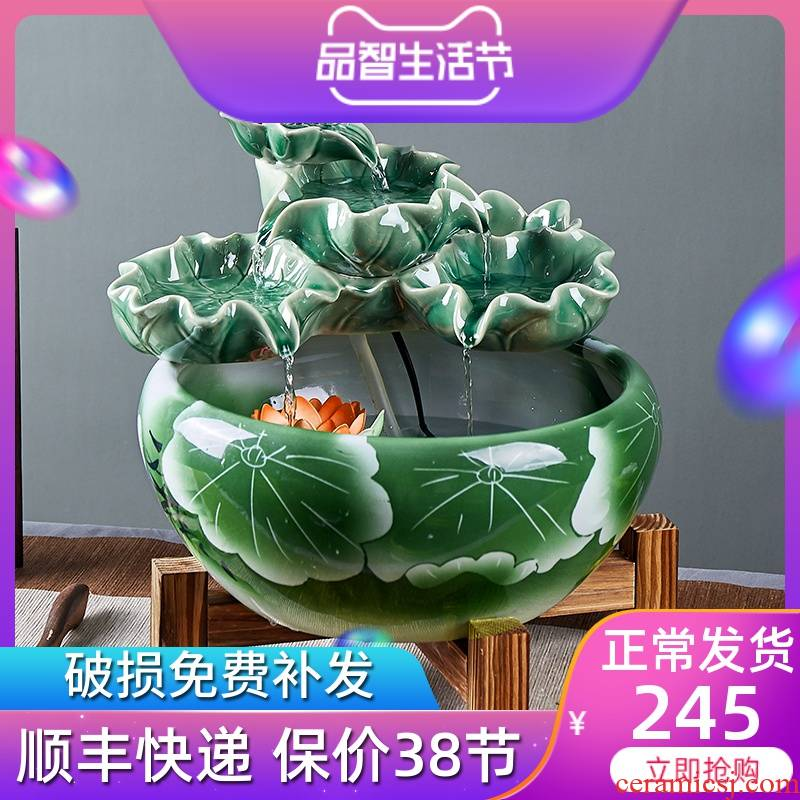 New Chinese style porch that take feel against evil spirit of feng shui ceramic water furnishing articles furnishing articles fish bowl sitting room humidifier