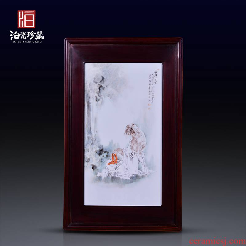 Jingdezhen ceramic famille rose decoration hand - drawn characters background wall painting the sitting room is the study of new Chinese style dining - room wall paintings