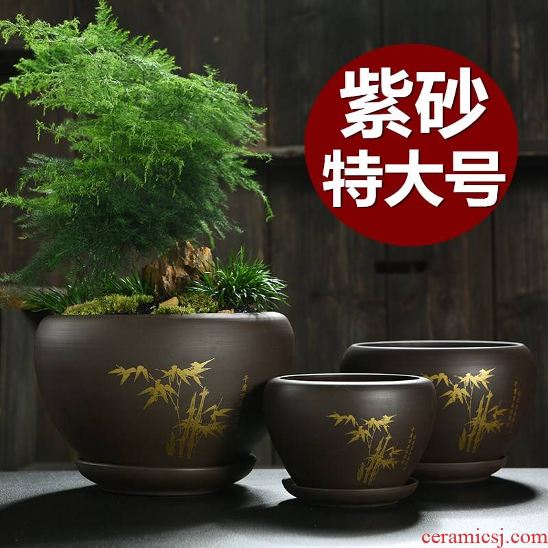 Heavy flowerpot ceramic large tray with special offer a clearance violet arenaceous bracketplant creative household more than other meat big flower pot