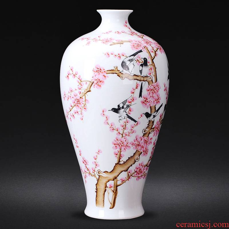 Jingdezhen ceramics famous hand - made beaming vases, flower arranging Chinese style living room home furnishing articles