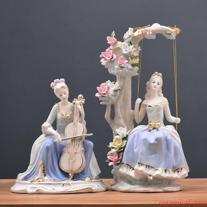 European ceramics handicraft decoration of modern household adornment palace western female sitting room TV ark, furnishing articles
