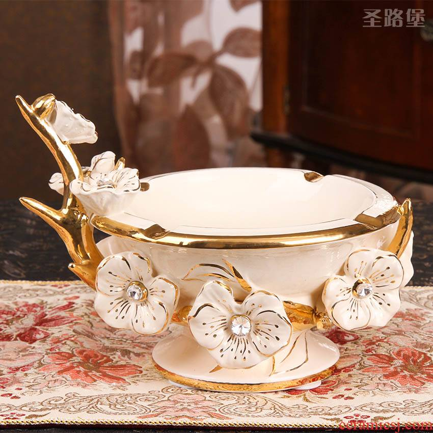 European large ceramic ash furnishing articles set auger sitting room tea table creative furnishing articles of handicraft ornament