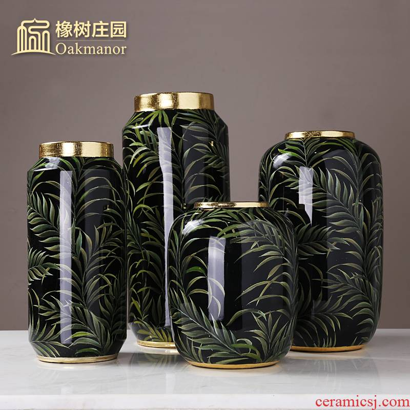 New classical up phnom penh pottery vase furnishing articles American sitting room leaves office desktop dried flower arranging flowers adornment flowers