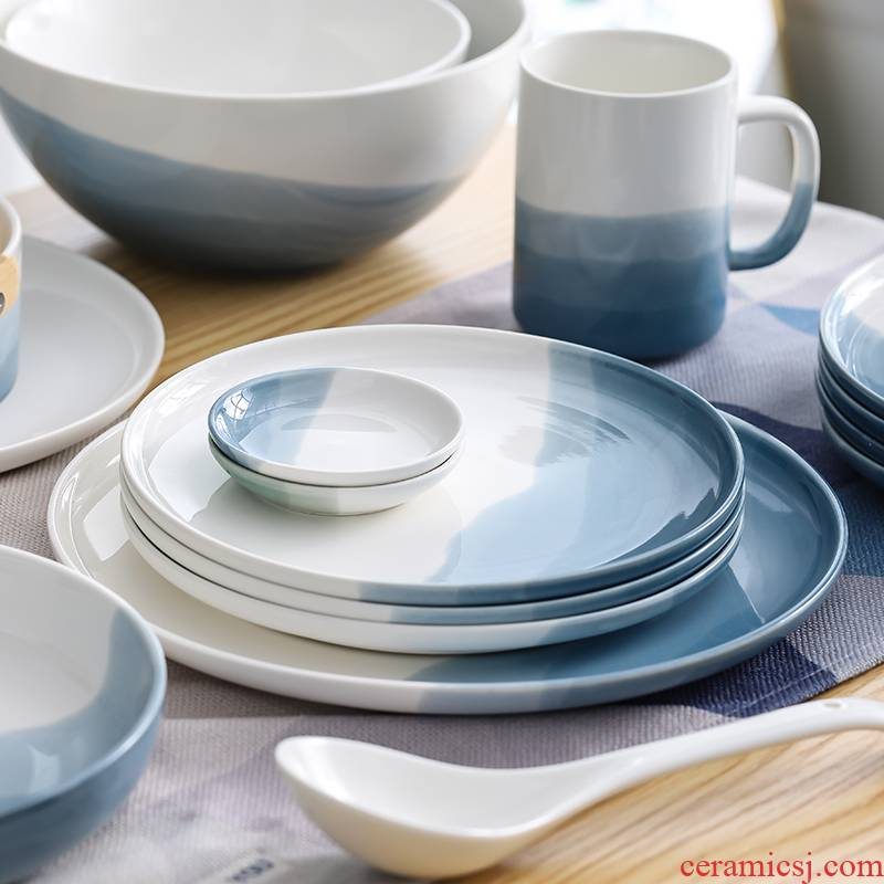 Salad dishes ceramic bowl with fruit bowl trill web celebrity tableware creative baking food bowls ou
