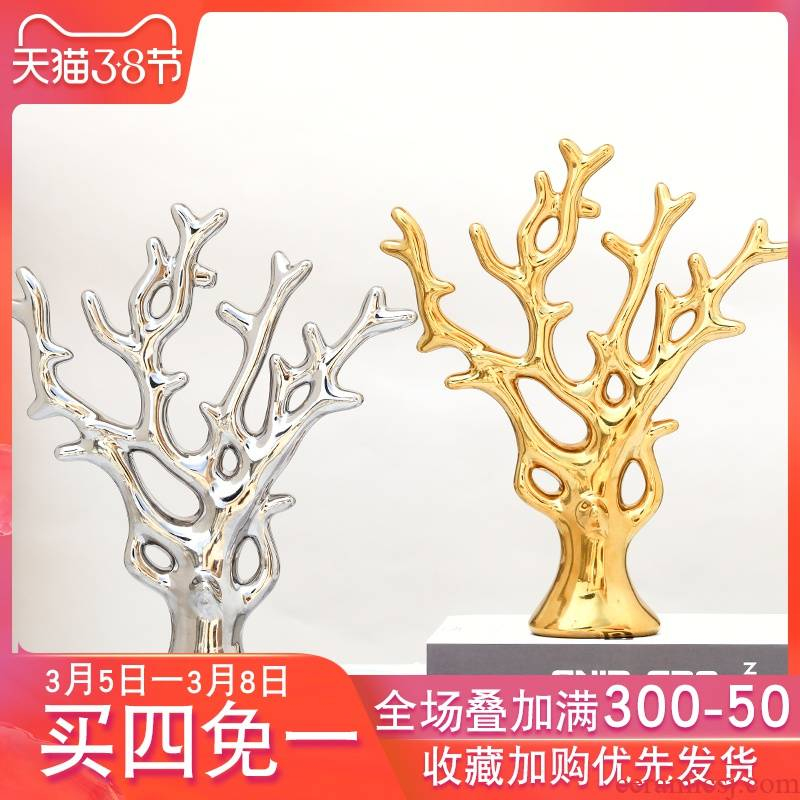 Creative household act the role ofing is tasted ceramic handicraft small ornament adornment bedroom TV ark, wine sitting room adornment is placed