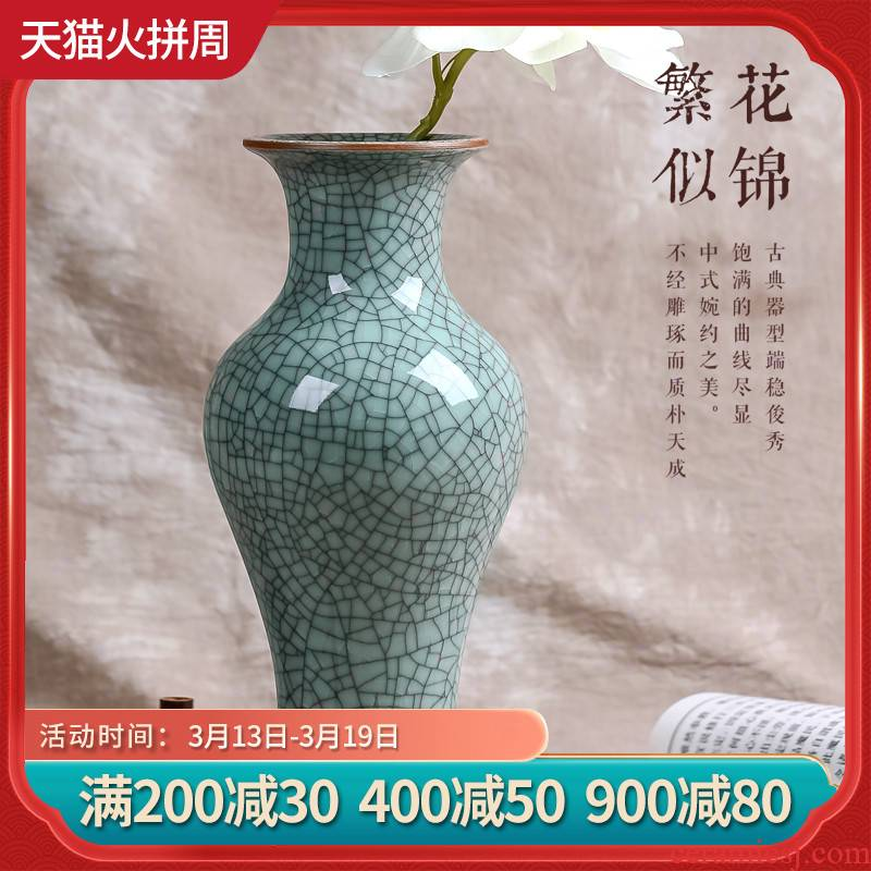 Archaize of jingdezhen ceramics up flower vase classic Chinese style household adornment of the sitting room porch furnishing articles
