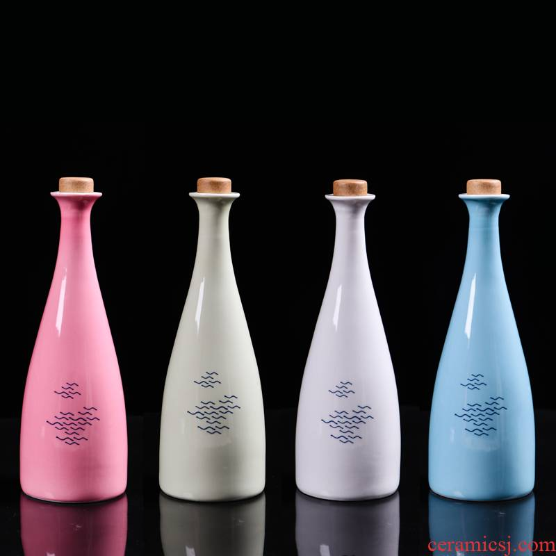 Jingdezhen creative an empty bottle bottles home antique white wine wine bottle sealed ceramic jars mailed to pack a kilo