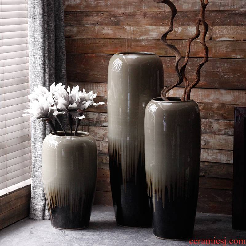 Jingdezhen I and contracted ceramics of large vases, flower implement courtyard villa window flower arranging place large flower pot