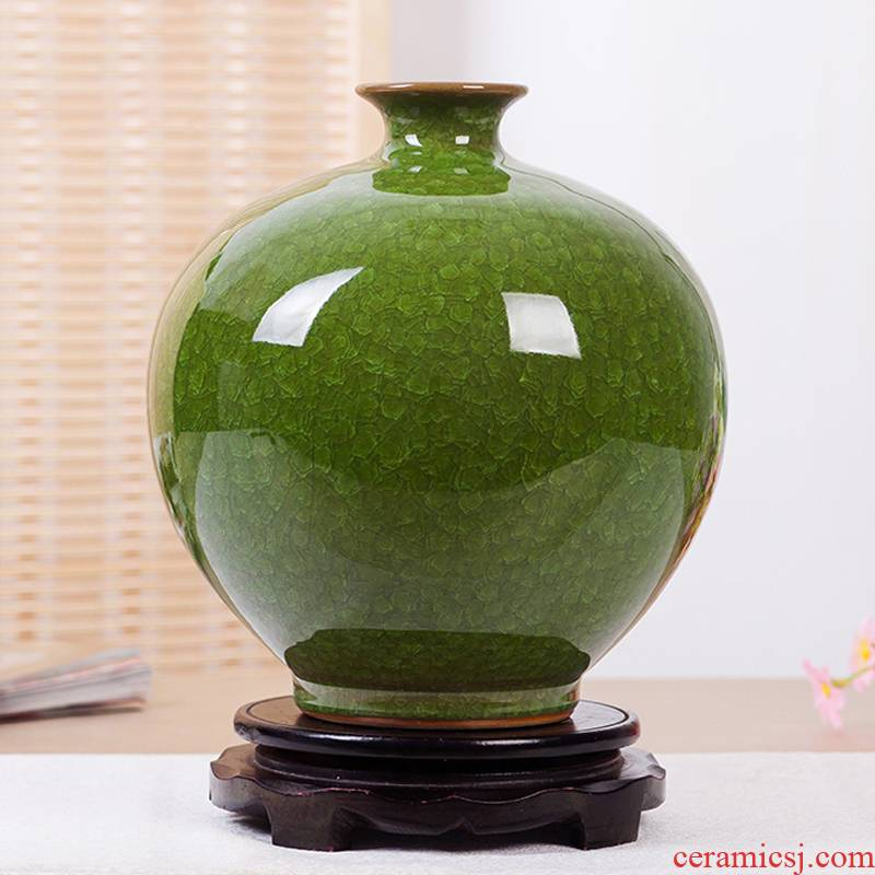 Archaize of jingdezhen ceramics up borneol crackle vases, modern household act the role ofing is tasted handicraft furnishing articles in the living room