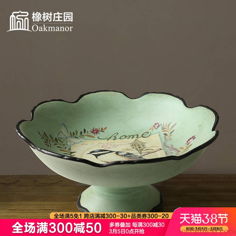 Sitting room fruit bowl furnishing articles artical ceramic household creative tea table plate decoration receives dry fruit bowl bowl