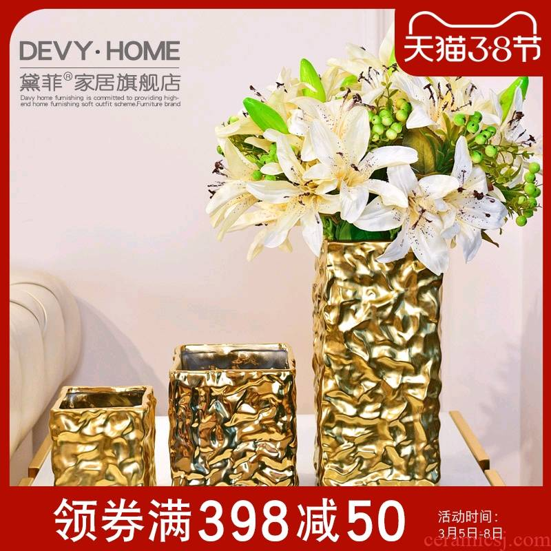 Creative ceramic vase furnishing articles artical sitting room porch TV table wine simulation flowers, dried flowers, flower arrangement