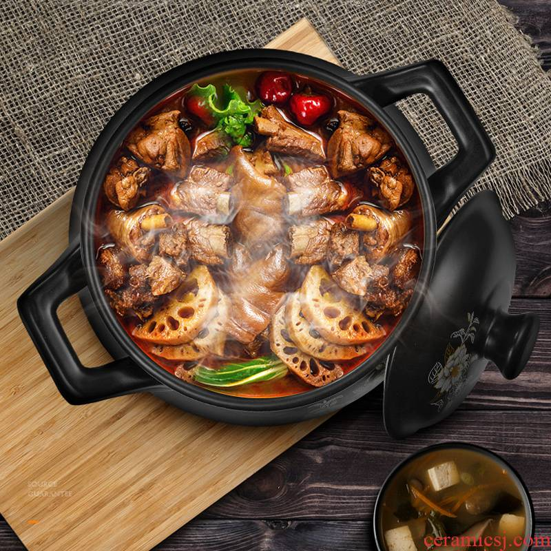 Casserole stew high - temperature crock soup pot small ceramic Casserole household flame gas pot soup pot soup pot