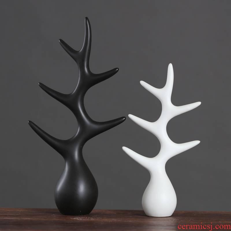 Creative home wine decorations furnishing articles Nordic desktop accessories TV sitting room ark, ceramic handicraft tree