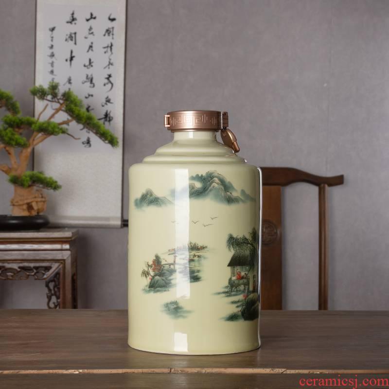 An empty bottle jingdezhen household ceramics 1 catty 5 jins of 10 jins as cans creative retro seal hoard liquor bottles