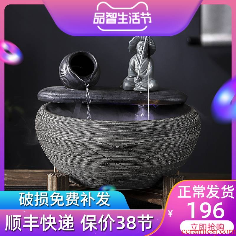 Jingdezhen ceramic water furnishing articles home sitting room lucky feng shui and restoring ancient ways round the goldfish bowl fish bowl squire fishing