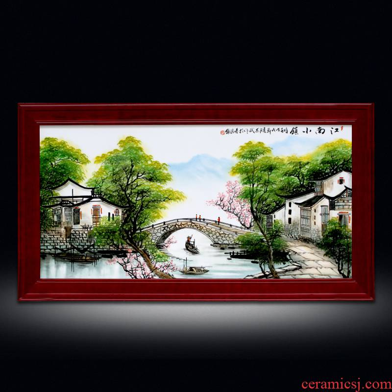 Jingdezhen porcelain plate Chinese style living room lucky usual and hang a picture hand - made famille rose porcelain hanging screen porch corridor murals