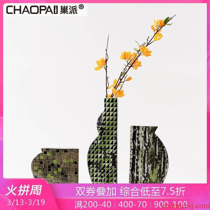 Light the key-2 luxury of postmodern geometric ceramic vase furnishing articles ikea sitting room TV ark, desktop decoration flower arranging flowers