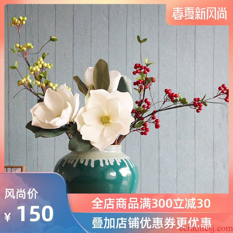 Sitting room villa ceramic up vase study restaurant big flower vases, flower implement ceramic decorations hall furnishing articles