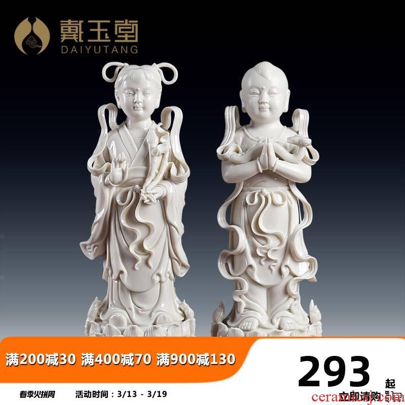 Yutang dai good fortune TongZiLong getting Jennifer, pottery and porcelain guanyin bodhisattva as Buddha worship that occupy the home furnishing articles