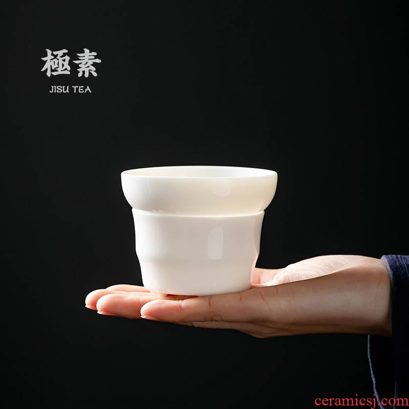 Pole element | landscape between the white porcelain) tea tea set of the filter household fittings of kung fu tea tea strainer