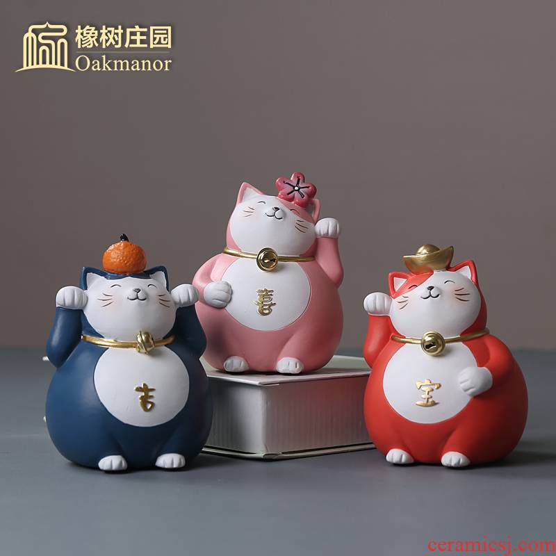 Japan 's delicate plutus cat furnishing articles checkout a thriving business ceramic ranging large shops opening gifts