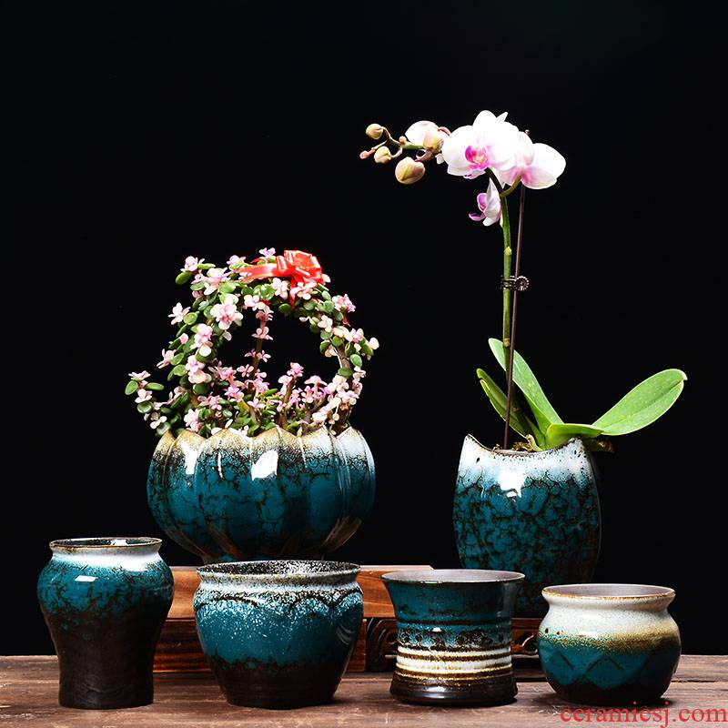 YOU creative jade flower pot ceramic wholesale indoor potted bracketplant spend money plant much meat meat meat the plants flower pot