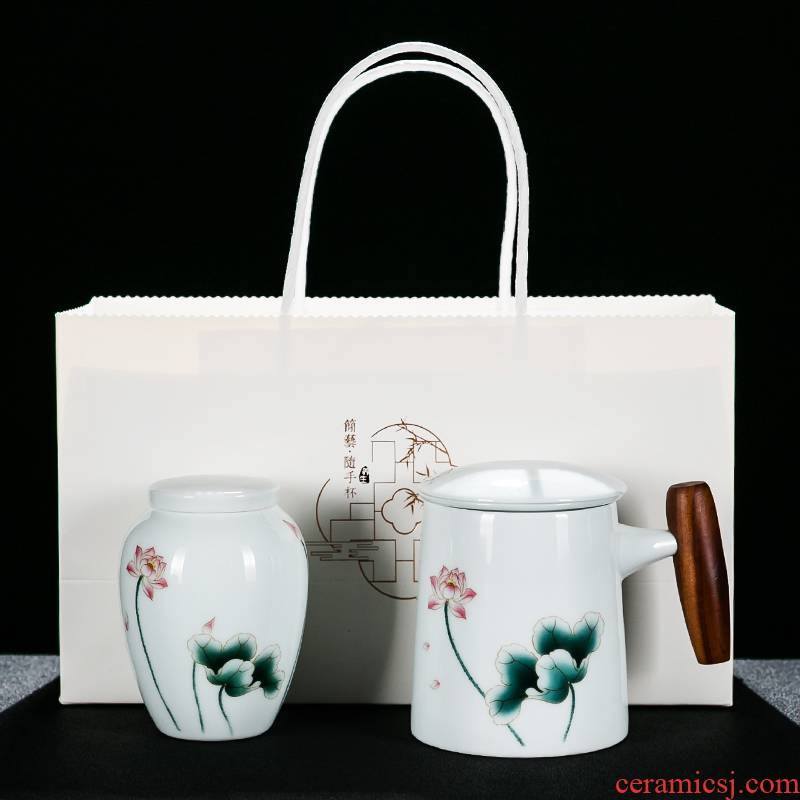 NiuRen white porcelain with cover ideas filter type tea caddy fixings office of a complete set of tea cups gift boxes