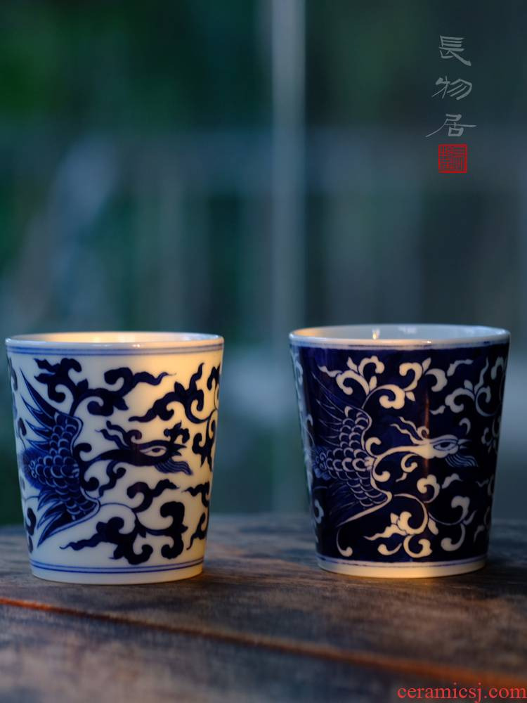 Offered home - cooked view taste cup hand - made porcelain grain porcelain cups in jingdezhen ceramic tea cup by hand