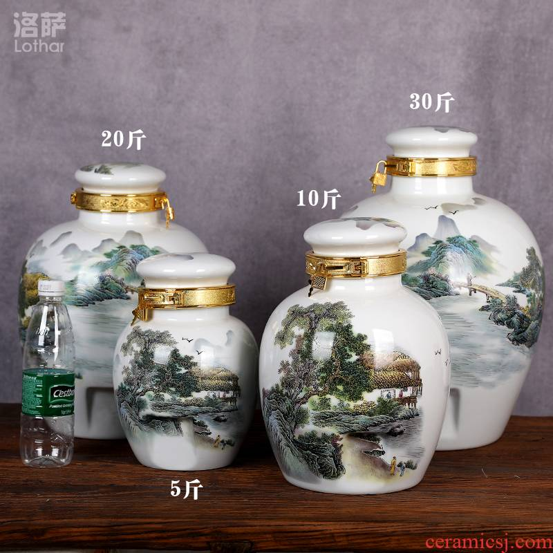 Ceramic jar high leucorrhea furnishing articles leading base wine mercifully wine bottle it (jin