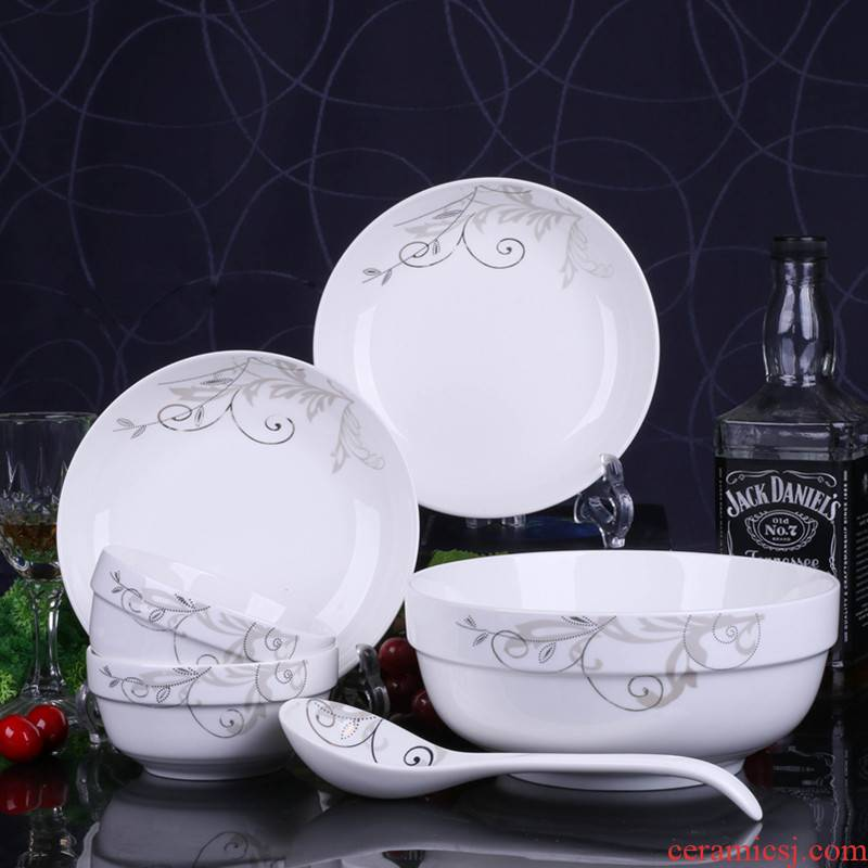 2 special dishes suit dishes household jobs contracted express cartoon lovers combination earthenware bowl dish run out