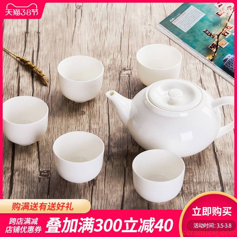 Make tea is rhyme of jingdezhen ceramic teapot large household hotel tea sets cool water pure white ipads porcelain teapot