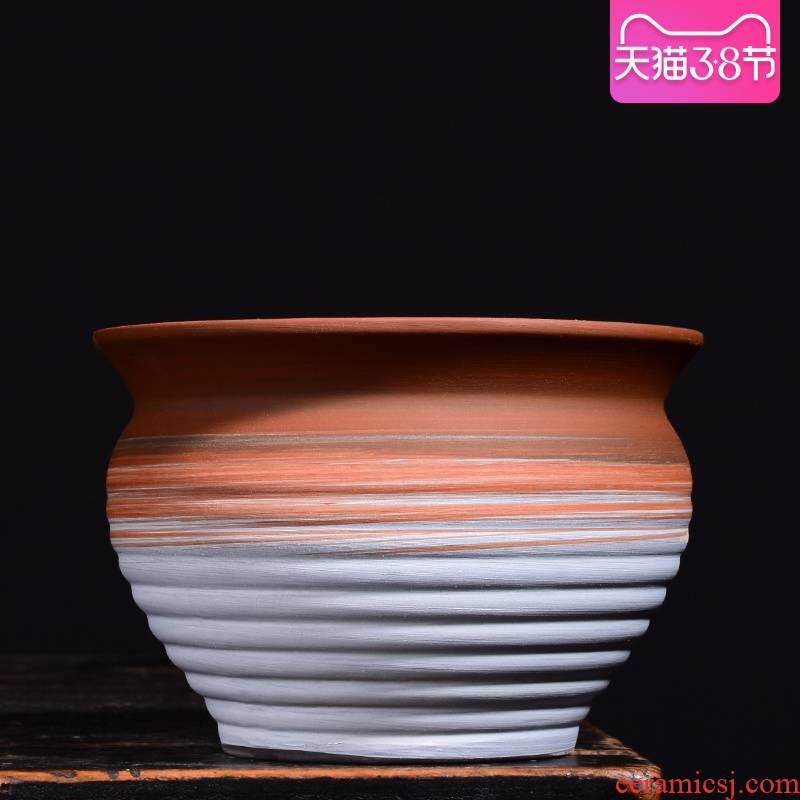 New Chinese style brilliantly coloured purple sand flowerpot more meat ceramic contracted household meat meat plant POTS, green plant, small potted creative