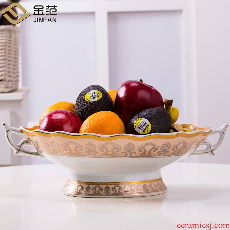 Fruit bowl sitting room tea table ceramic household ins Nordic fashion ideas dried Fruit snacks candy a large bowl