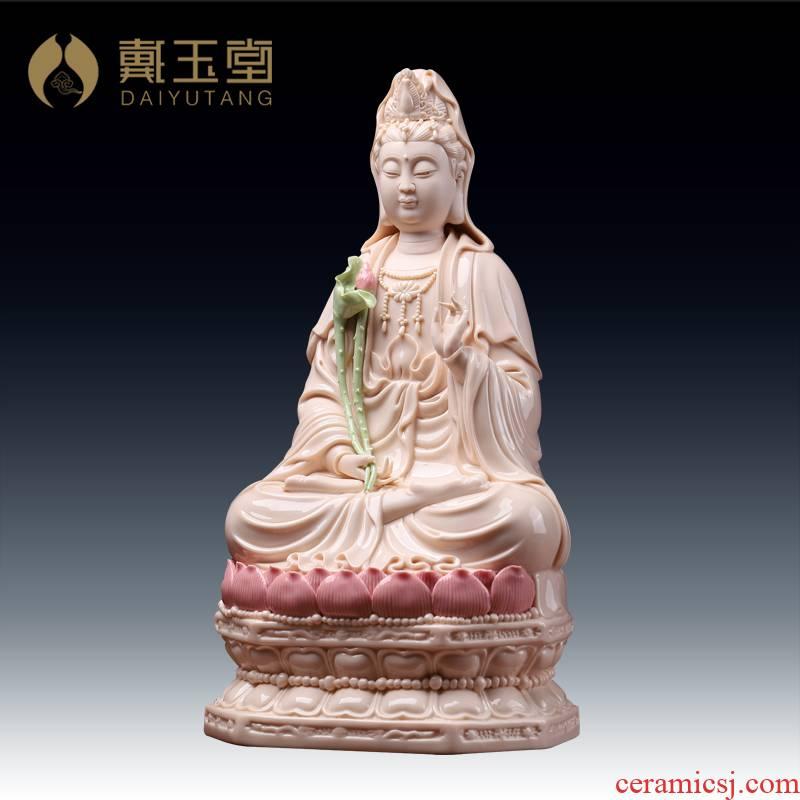 Yutang dai home to ceramic Buddha trend to life is a horse this Buddha bodhisattva momentum to Buddha jade white porcelain